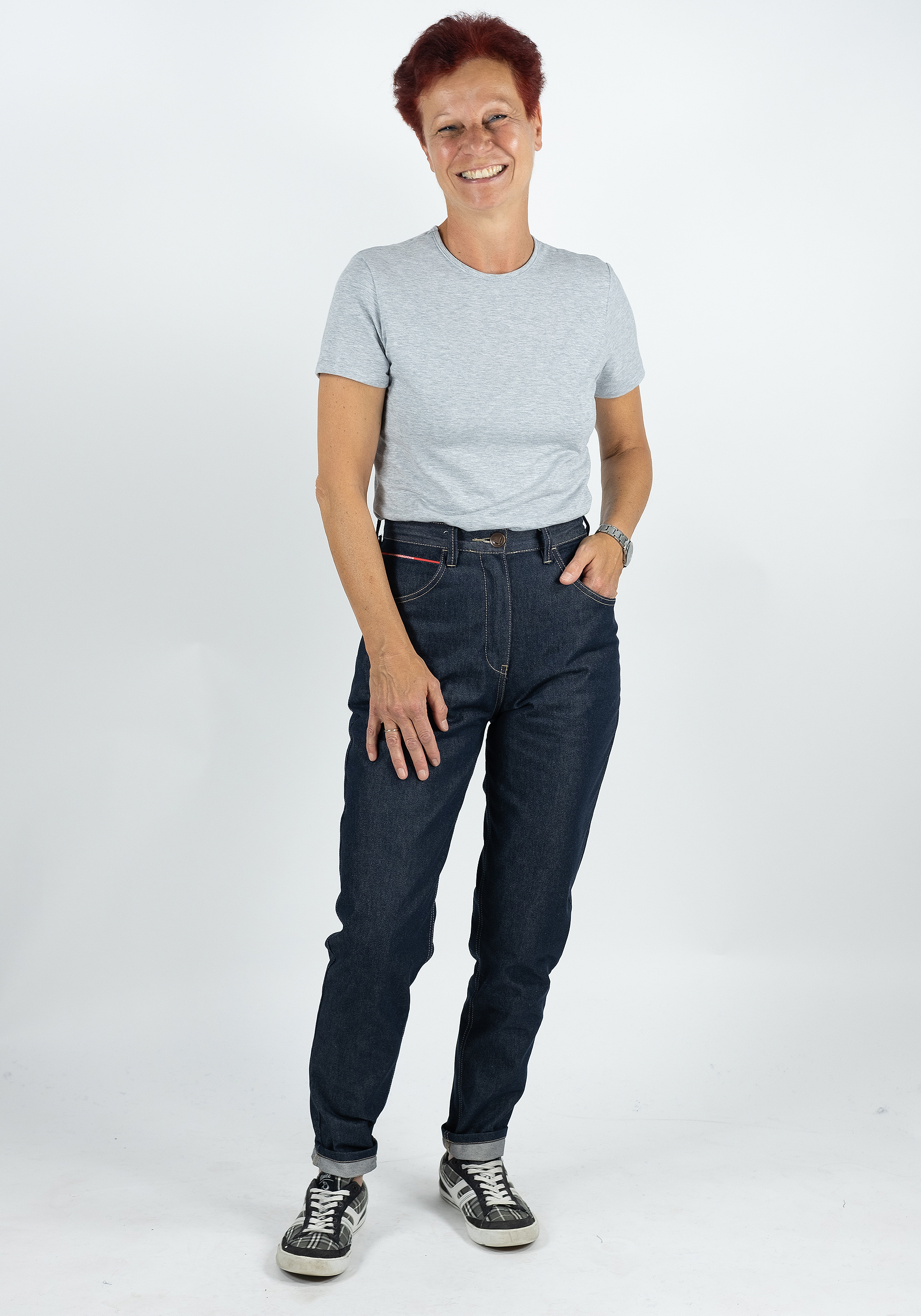 Augschburgdenim Tapered fit Jeans Karo